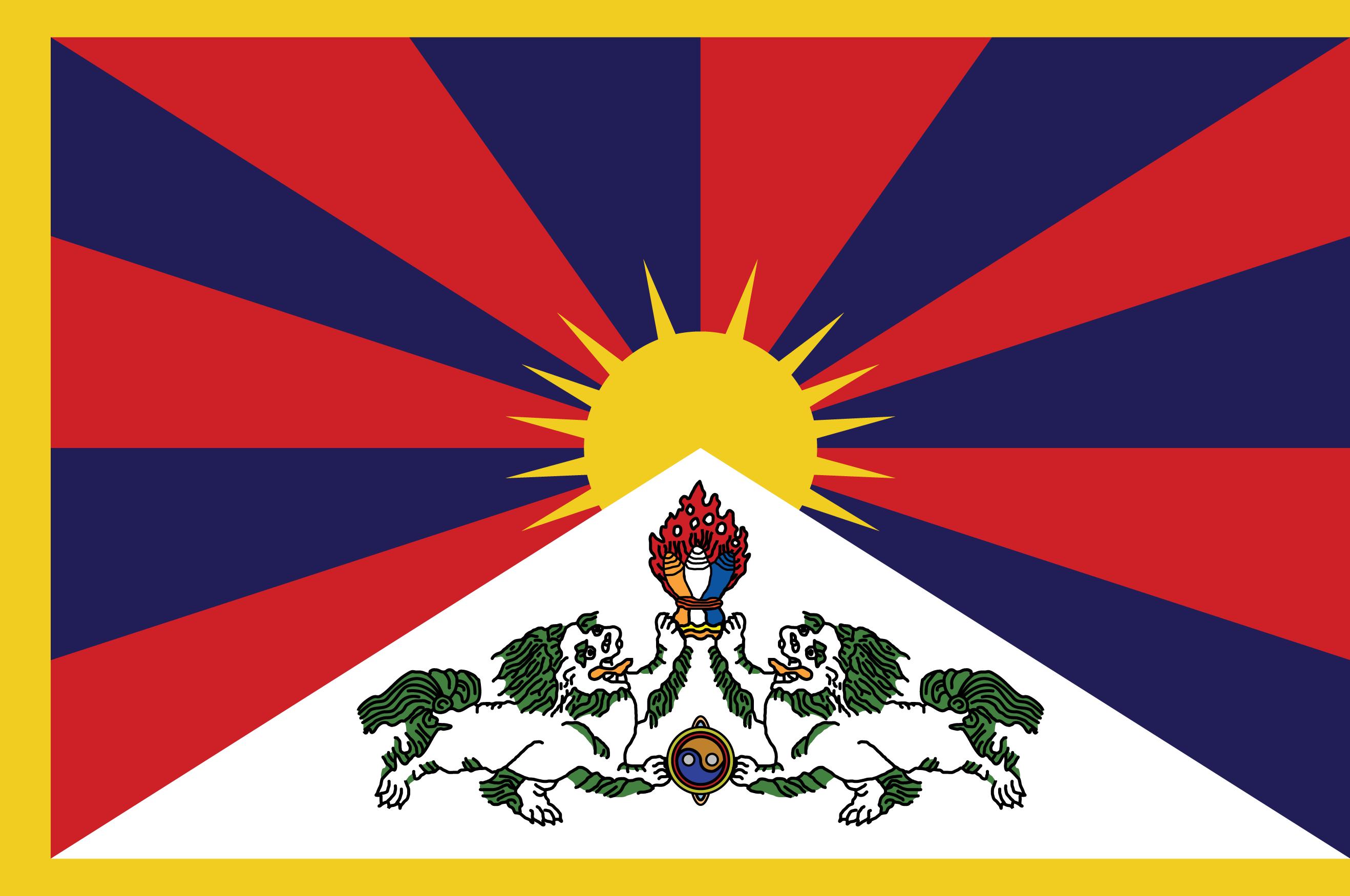 Výsledek obrázku pro tibetská vlajka