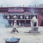 Lhasa, orakulum Nechung detail vchod do gompy